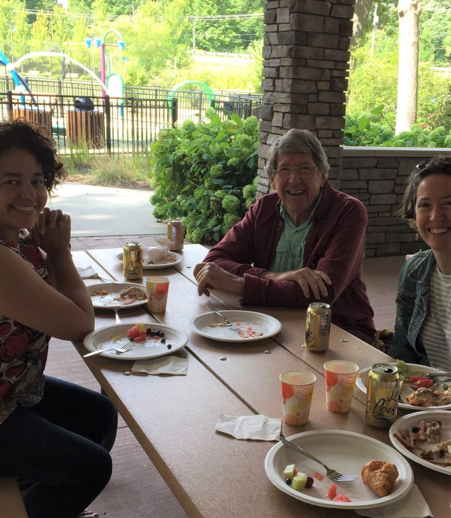 Parishioners enjoyed a great picnic buffet